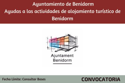 Ayudas a las actividades de alojamiento turístico de Benidorm - Ayuntamiento de Benidorm