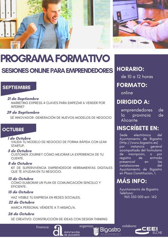 Webinars Ayuntamiento de Bigastro