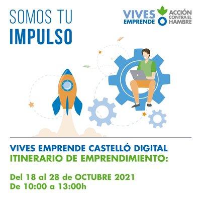 Cartel Vives Emprende Castello Digital 2021