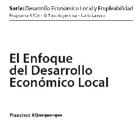 El enfoque del desarrollo económico local