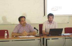Antonio Martínez Puche (UA) y Jordi Tormo (CEEI Alcoy)