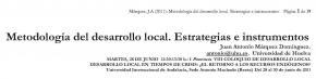 Metodología del desarrollo local. Estrategias e instrumentos
