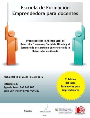 Agencia Local y Universidad de Alicante organizan el curso Formadores para Emprendedores