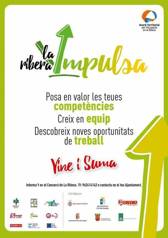La Mancomunidad de la Ribera Alta lanza el programa Ribera Impulsa