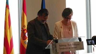 Firma del convenio entre la Conselleria y la Mancomunitat de l'Alcoià i el Comtat