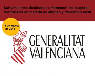 Subvenciones destinadas a fomentar los acuerdos territoriales en materia de empleo y desarrollo local CV