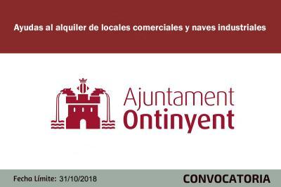 Subvención de ayudas al alquiler naves y locales en Ontinyent