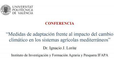 Cambio climático en los Sistemas Agrícolas Mediterráneos