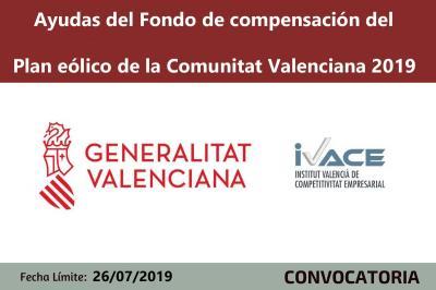 Ayudas Plan eólico de la Comunitat Valenciana 2019