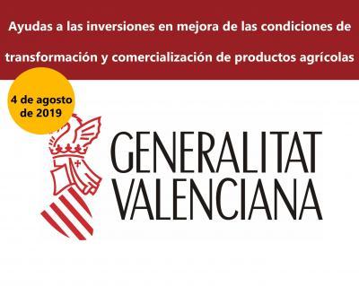 Ayudas transformación y comercialización de productos agricolas agrícolas