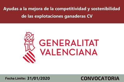 Ayudas a las  explotaciones ganaderas de la Comunitat Valenciana