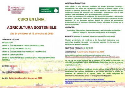 Curso Online Agricultura Sostenible