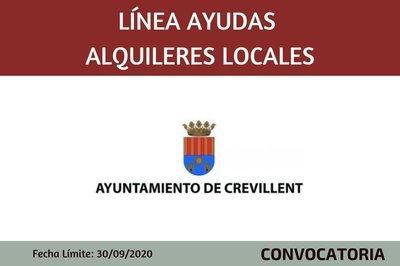 Línea de ayudas alquileres locales 2020