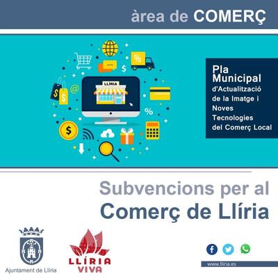 El Ayuntamiento de Llíria dará 30.000 euros en ayudas para inversiones de mejora en los comercios locales