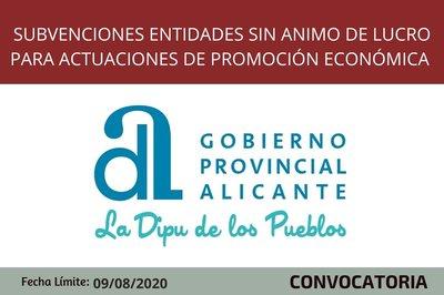 Subvenciones promoción económica Alicante 2020
