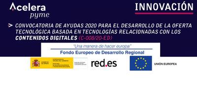Convocatoria abierta de ayudas al desarrollo tecnológico para empresas en el ámbito de los contenidos digitales