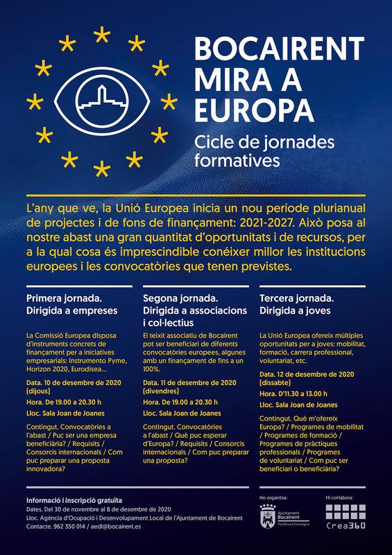 """Jornadas formativas """"Bocairent Mira a Europa"""""""