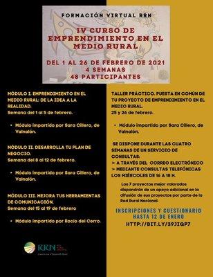 4ª edición - Curso de emprendimiento en el medio rural